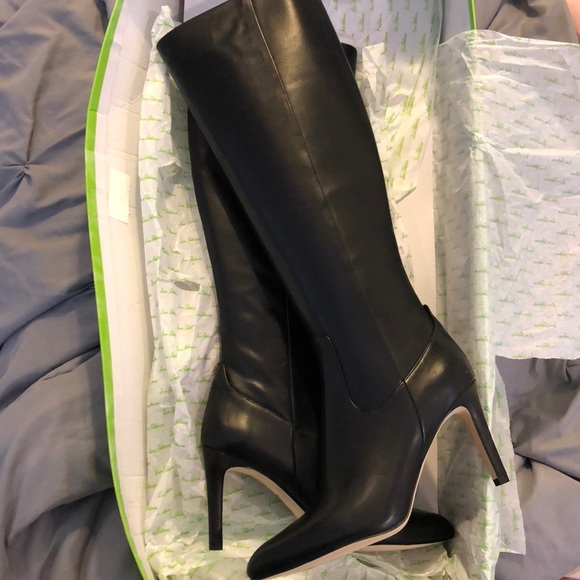 d8bffd85e Sam Edelman Olencia Black Leather Boot with Heel. M 5b2a6e5adf03070ffece4094